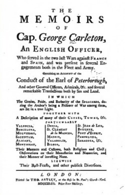 The memoirs of Cap. George Carleton - Daniel Defoe