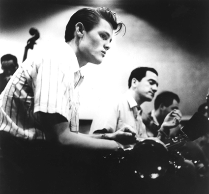Chet Baker from Bruce Weber's LET'S GET LOST (1988). Photograph © William Claxton.  All rights reserved. Courtesy of Little Bear Films/Film Forum.