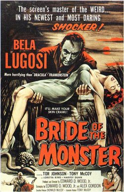 Ed Wood - Bride of the Monster (1956 movie poster)