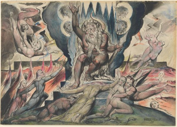 William Blake: Minos (1824-1827)