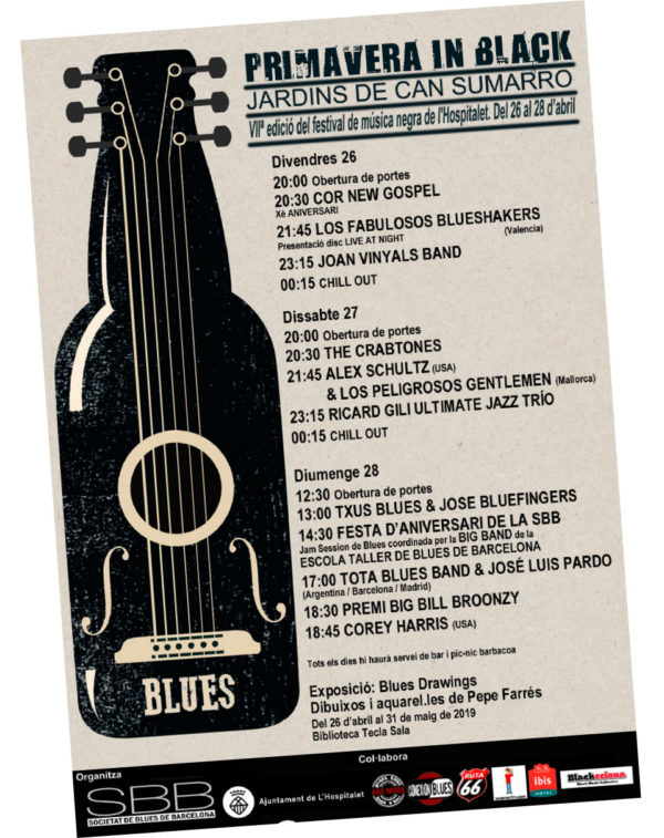 BLUES A L'HOSPITALET · PRIMAVERA IN BLACK 2019