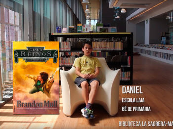 Booktubers a la Biblioteca La Sagrera-Marina Clotet: Daniel