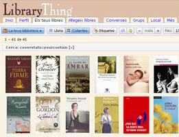 La meva bilbioteca a LibraryThing