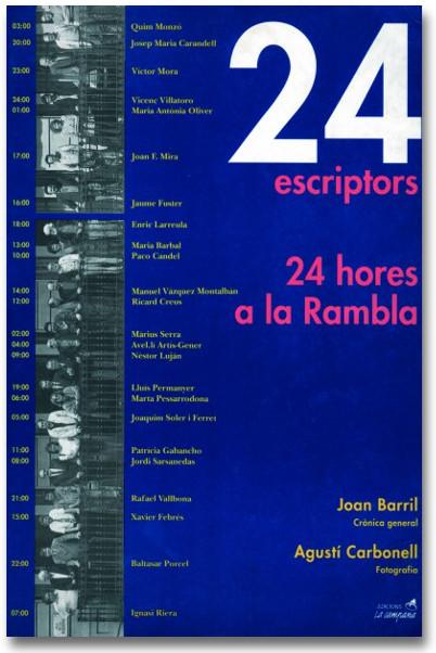 24 escriptors 24 hores a la Rambla
