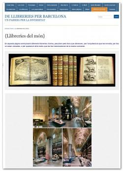 De llibreries per Barcelona