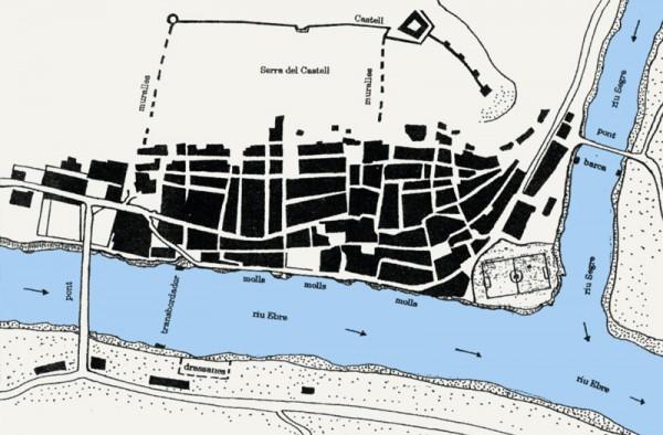 Mapa de l'antiga Mequinensa: entre l'Ebre i el Cinca