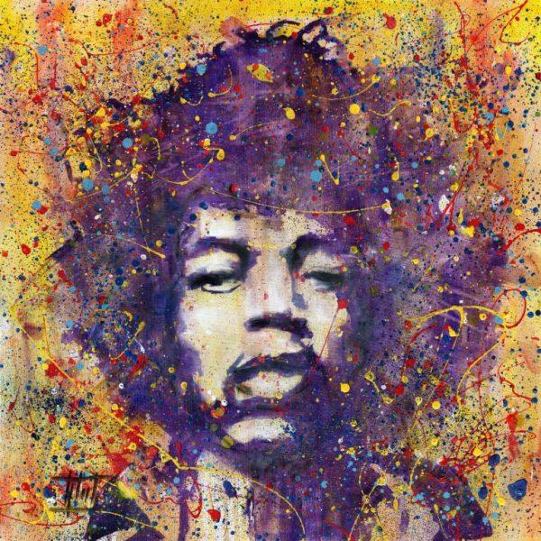 Pintura sobre Jimi Hendrix, per l'artista Jaroslaw Glod (https://www.saatchiart.com/art/Painting-Jimi-Hendrix/738462/2462222/view)