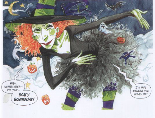 La Bruixa Protectora, ambaixadora de les coses horripilants i esfereïdores.