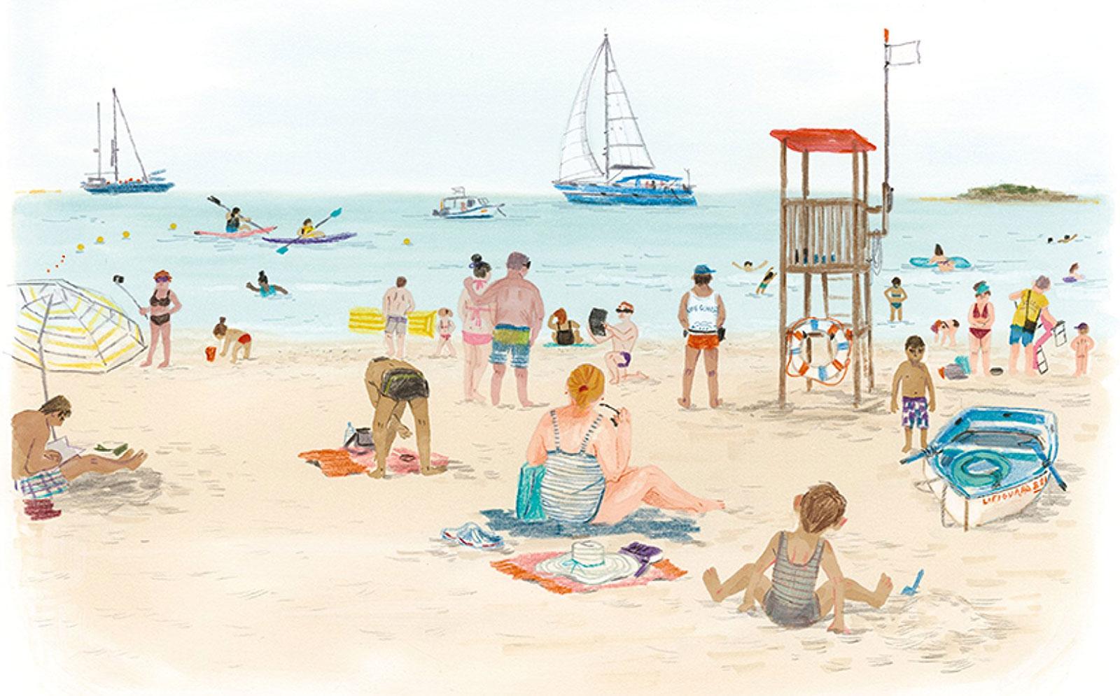 En la playa Susanna Mattiangeli