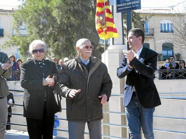 Paco Aura, durant la inauguració d'un pont que duu el seu nom a Alcoi.