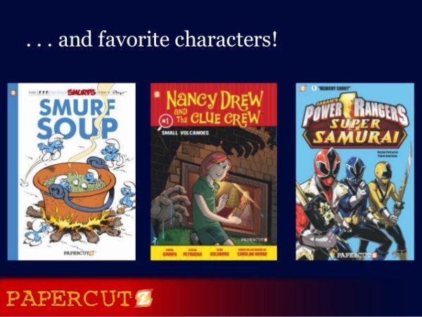Alguns dels còmics publicats per l'editorial Papercutz.