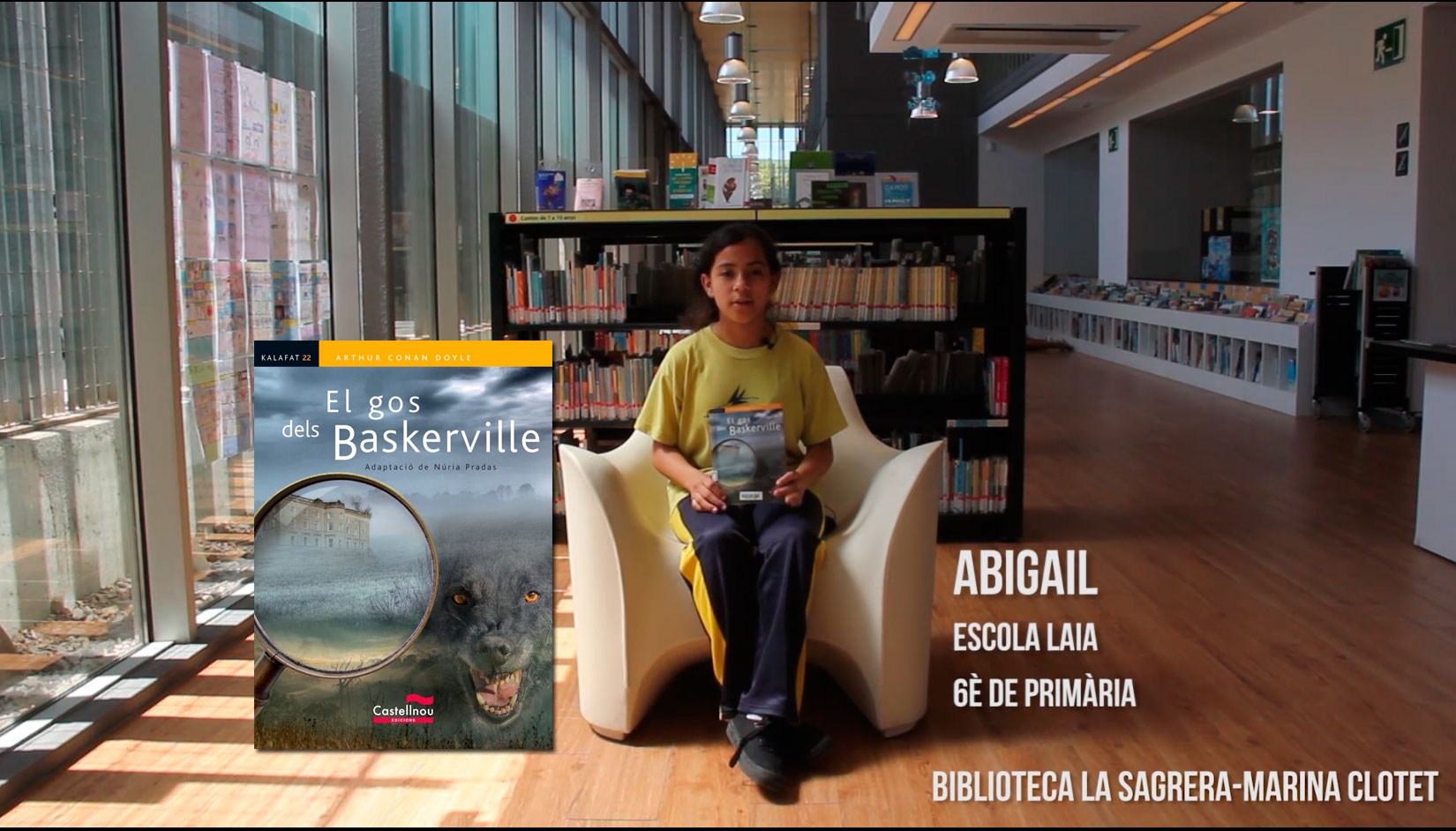 Booktubers a la Biblioteca La Sagrera-Marina Clotet: Abigail