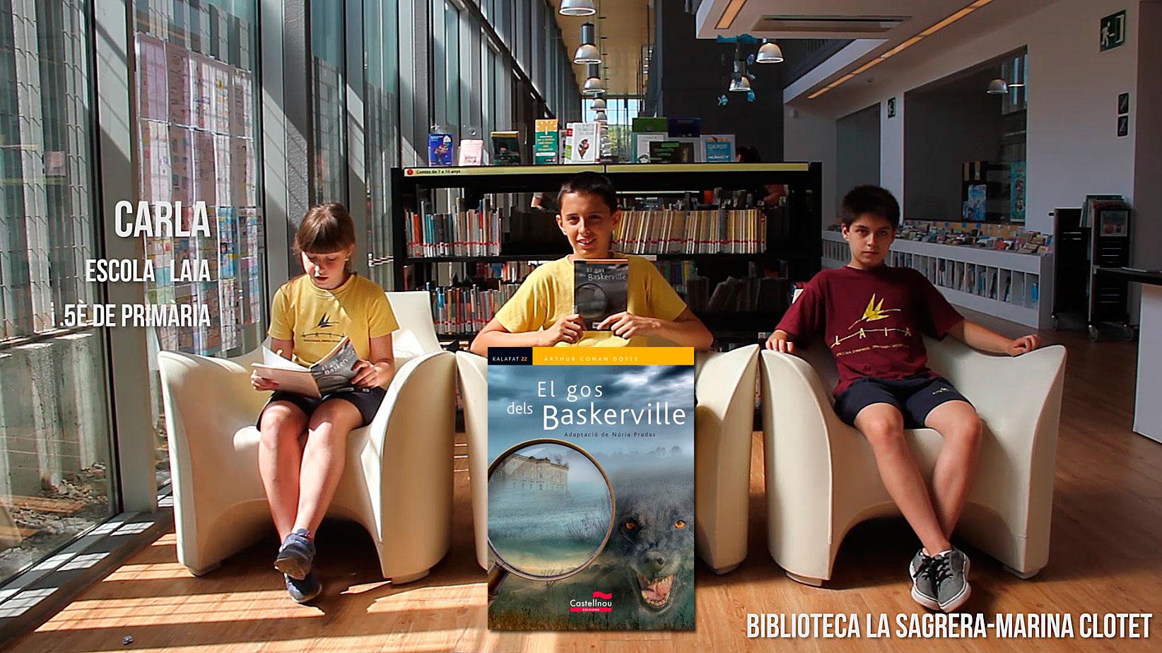 Booktubers a la Biblioteca La Sagrera-Marina: Carla, Sergi i Oliver