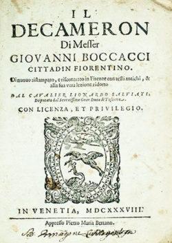 Decameró  Boccaccio, Giovanni