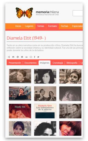 Diamela Eltit (1949-) Memoria Chilena. Biblioteca Nacional Digital de Chile