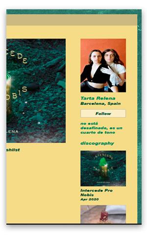 TARTA RELENA tartarelena.bandcamp.com