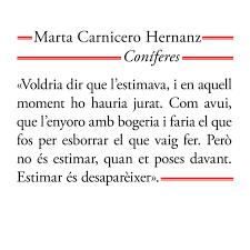 Coníferes - Marta Carnicero